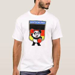 Men's Basic T-Shirt with German Boxing Panda design