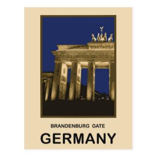 Germany Brandenburg Gate Postcard