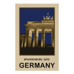 Germany Brandenburg Gate Poster