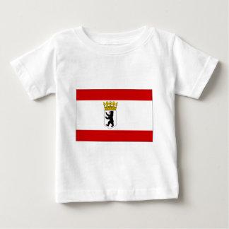 Germany Brandenburg State and Civil Flag T-shirt