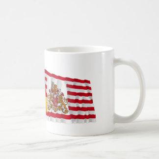 Germany & Bremen Waving Flags Coffee Mug