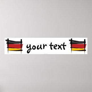 Germany Brush Flag Banner Poster