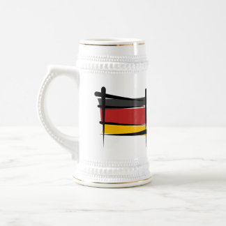 Germany Brush Flag Beer Stein