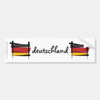 Germany Brush Flag Bumper Sticker