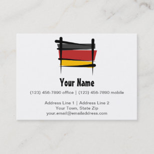 German family business cards zazzle germany brush flag business card reheart Images