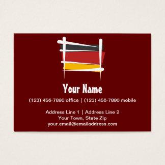 Germany Brush Flag Business Card