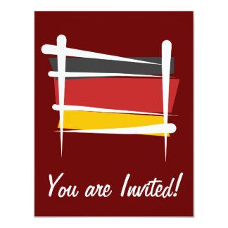 Germany Brush Flag Card
