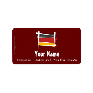 Germany Brush Flag Label
