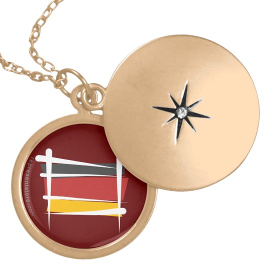 Germany Brush Flag Locket Necklace