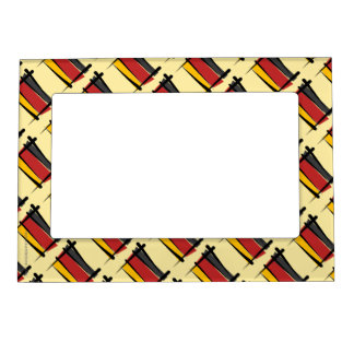 Germany Brush Flag Magnetic Photo Frame