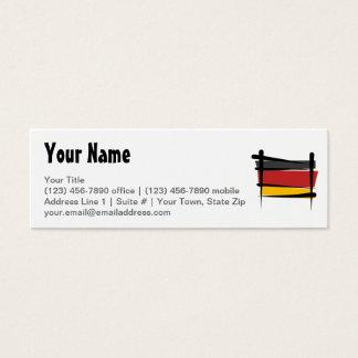 Germany Brush Flag Mini Business Card