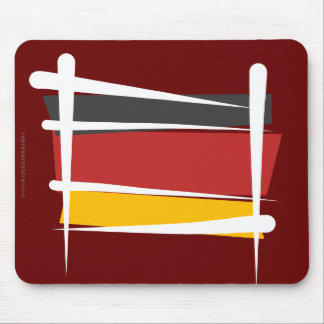 Germany Brush Flag Mouse Pad