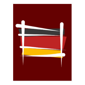 Germany Brush Flag Postcard