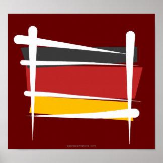 Germany Brush Flag Poster