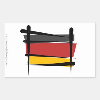 Germany Brush Flag Rectangular Sticker