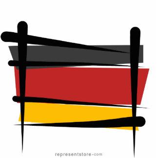 Germany Brush Flag Statuette