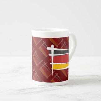 Germany Brush Flag Tea Cup