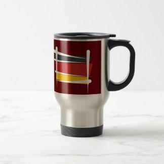 Germany Brush Flag Travel Mug