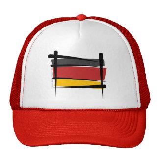 Germany Brush Flag Trucker Hat