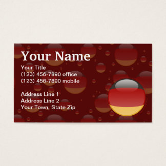 Germany Bubble Flag Business Card