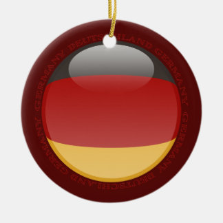 Germany Bubble Flag Ceramic Ornament