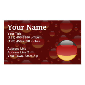 Germany Bubble Flag Double-Sided Standard Business Cards (Pack Of 100)