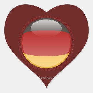 Germany Bubble Flag Heart Sticker