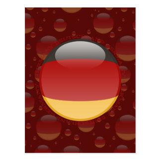 Germany Bubble Flag Postcard