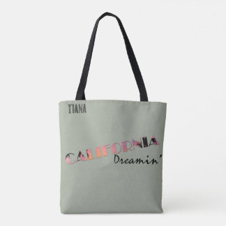 Germany California Friendship Silhouette Tiana Tote Bag