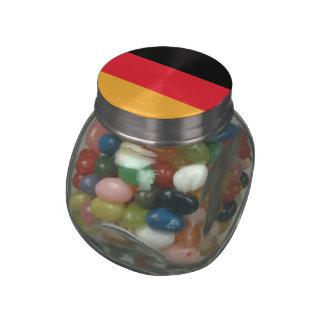 GERMANY GLASS CANDY JARS