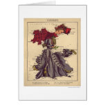 Germany Caricature Map 1868 Greeting Card