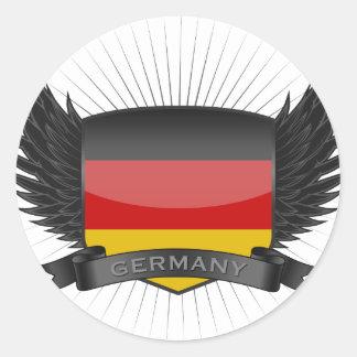 GERMANY CLASSIC ROUND STICKER