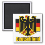 Germany Coat of Arms 2 Inch Square Magnet