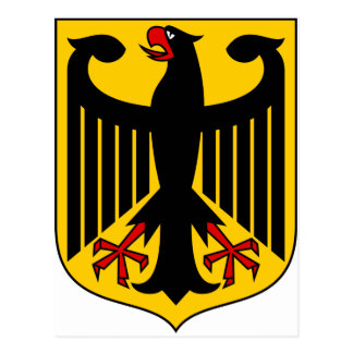 Germany Coat of arms DE Postcard