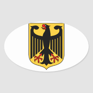 Germany Coat of Arms Oval Sticker