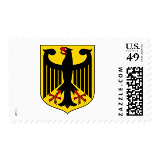 Germany coat of arms postage stamp