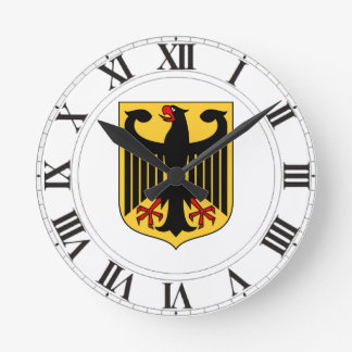 Germany Coat of Arms Round Clock