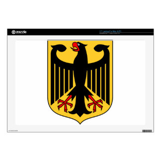 "Germany Coat of Arms Decal For 17"" Laptop"