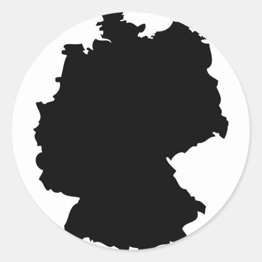 germany contour icon classic round sticker