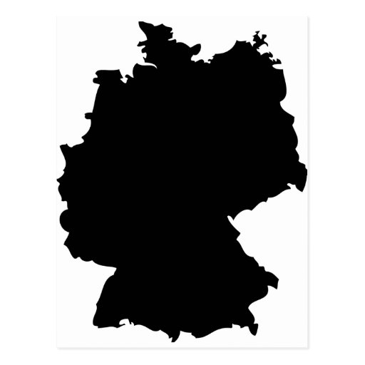 germany contour icon post cards