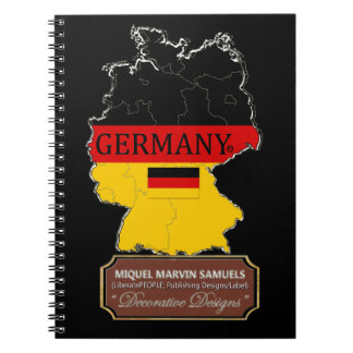 Germany country outline Flag Color Modern Notebook