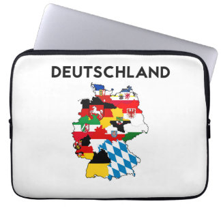 germany country political flag map region province computer sleeve