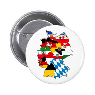 germany country political flag map region province pinback button