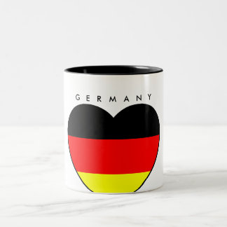 Germany cup with heart