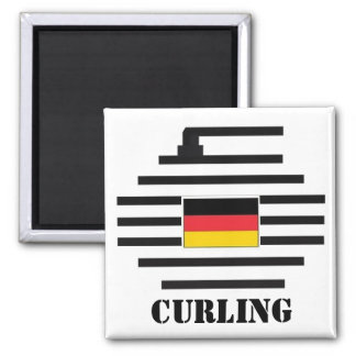 Germany Curling Magnet