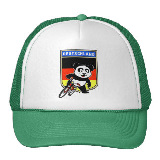 Germany Cycling Panda Trucker Hat