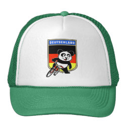 Trucker Hat with German Cycling Panda design
