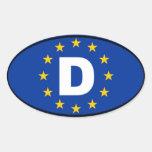 Germany - Deutschland - European Oval Sticker