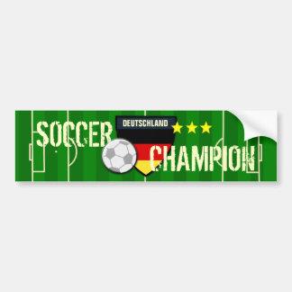 Germany Deutschland Soccer Champion Car Bumper Sticker