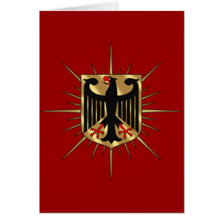 Germany Eagle badge Germany Soccer Gifts Greeting Card